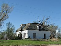 USA - Texola OK - Abandoned Boarded-Up House (20 Apr 2009)